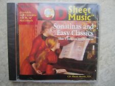 Sheet Music CD - printable Sonatinas and Easy Classics for Piano *NEW*