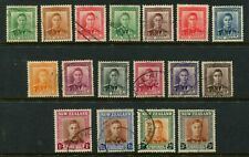 NEW ZEALAND - 1947 KGVI Set to 3/- 'GREY and BROWN' FU SG680-89 Cv £11 [A6829]