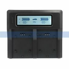 Dual Slot LP-E6 Battery Charger LCD Display Quick Charging For Canon Camera