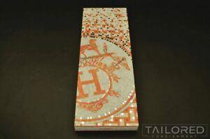 HERMES Limited Edition Mosaic Sleeve Scarf Socks Tie Luxury Gift Box 15 x 5 x 1