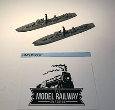 VINTAGE TRIANG MINIC SHIPS - M774 - HMS DECOY X 2 - RARE DIECAST UNBOXED