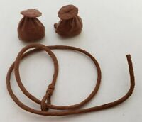 1960'S JOHNNY WEST COWBOY ACCESSORY MIXED WESTERN TOY VINTAGE LOT BAGS AND ROPE