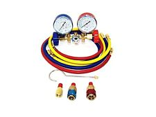 Refrigeration Air Conditioning AC Diagnostic Manifold Gauge R134a R502a R22 R12