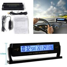 Reloj De Voltaje Auto Coche Digital Multifunción Monitor LCD Medidor de Temperatura Alarma