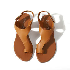Women Gladiator Sandals Summer Beach Flat Heel Open Toe Leather Shoes Flip Flops