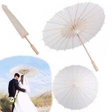 4pcs White Paper Parasol Umbrella Chinese Japanese Paper Umbrella Party Decor