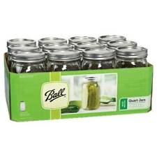 BALL 67000 1-Quart Wide Mouth Canning Jar - 12 Pack