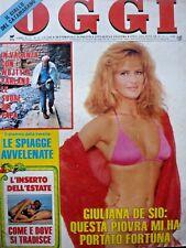 RR2b - OGGI N° 31 - 3 Agosto 1988 - Indice / Giuliana De Sio / Bose / M. Jackson