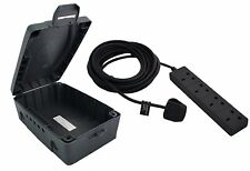 Masterplug Weatherproof Box 4 Socket 10 m Extension Lead Outdoor Waterproof New