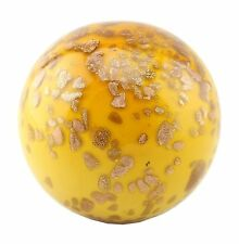 "New 5"" Hand Blown Glass Art Ball Amber Italian Millefiori Decorative"