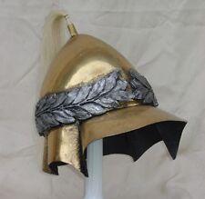 Greek Alexander Great Boatian helmet brass laurel wreath antiqued armor armour