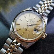 ROLEX Men's Oyster Perpetual Date 1500 14K Gold & SS, Swiss Vintage c.1972 MS106