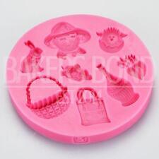 Otoño temática silicona molde para hornear utensilios para hornear torta Topper bizcocho glaseado