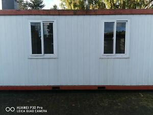 Container Wohncontainer Bürocontainer 20 Fuß gebraucht isoliert