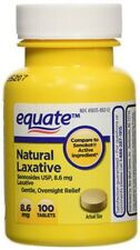 Equate Natural Vegetable Laxative, Sennosides 8.6 mg Tablets.100 Count Bottle