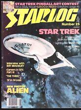 STARLOG # 25 SCI-FI MAGAZINE 1979 STAR TREK ALIEN RAY BRADBURY INTERVIEW THING