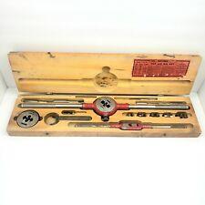 Vintage Craftsman Tap and Die Set 5490 w/ Original Wood Case Made USA