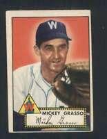 1952 Topps #90 Mickey Grasso EX/EX+ Senators 108521
