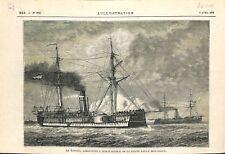 Bateau Vaisseau Le Scorpion Garde-Côtes Marine Royal Pays-Bas 1878 ILLUSTRATION
