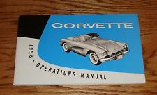 1958 Chevrolet Corvette Owners Operators Manual 58 Chevy