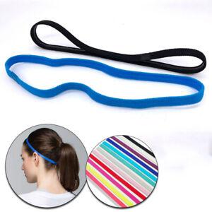 Männer Frauen Schweißband Sport Stirnband Haarbänder Haarband Anti-Rutsch-Kopfb