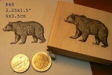 P65 Bear  rubber stamp WM