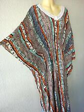 Maxikleid Strandkleid Sommerkleid Kaftan Boho Tunika Kimono Einheitsgröße Poncho