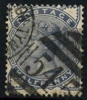 GB QV 1883-4 SG#187, 1/2d Slate-Blue Used #D47694