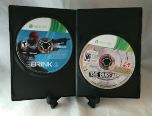 Brink & The Bureau Xcom Declassifed (Microsoft Xbox 360) Tested - Disc Only
