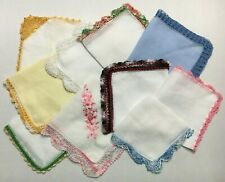 10 Beautiful Vintage Linen Women's Hankies