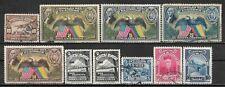 1929-50 ECUADOR Airmail 10 USED/UNUSED STAMPS Sc.#C10,57,58,60,61,73,135,168,222
