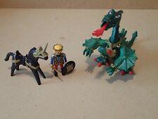 Playmobil 3840 Vintage Set Green fire breathing Dragon Knight Horse