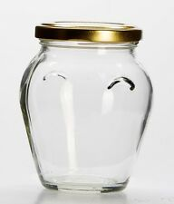 4 Orcio Glass Jars With Lids. Ideal for making beautiful candles