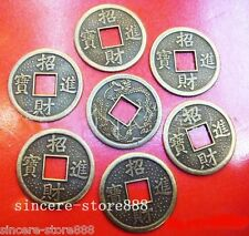 100PCS Feng Shui Chinese Lucky Dragon phoenix Coins 19MM Enhance Health fortune