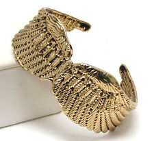 HOT! Statement Celebrity Gold Angel Wing Cuff Bangle Bracelet by Rocks Boutique