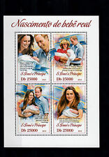 São Tomé PRINCIPE 2013 MNH Nascita Principe George ROYAL BABY 4V M / S William Kate