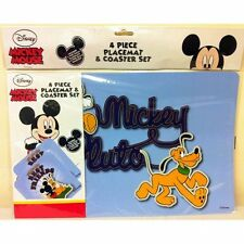 Disney Mickey Mouse Kids 4 Piece Placemat & Coaster Set
