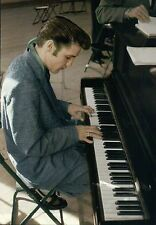 Elvis Presley Playing The Piano, Terrific Hair, King of Rock & Roll --- Postcard