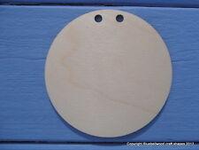 12 Cm diámetro círculo de madera contrachapada Llano De Madera empavesado Craft forma en Blanco Paquete de 5