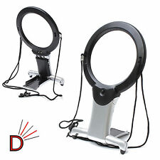 New 6 Times Giant Large Table Stand Magnifier Glass Led For Reading Sewin