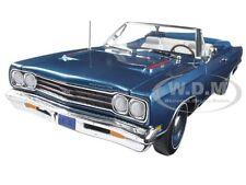 1969 PLYMOUTH GTX CONVERTIBLE JAMAICAN BLUE LTD ED 1002PC 1/18 AUTOWORLD AMM1102