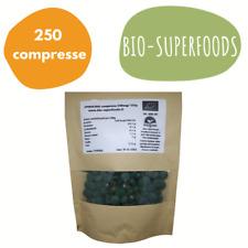 SPIRULINA BIO ORGANICA 125g -  250 compresse da 500mg Alga 100% pura Vegana