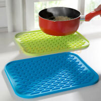Non Stick Slip Kitchen Food Mat Pad Silicone Insulated Heat Resistant Pan Gift