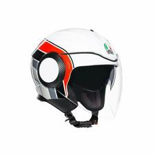 Casque Demi-Jet AGV Orbyt Brera Blanc - Grey - Rouge TAILLE XS