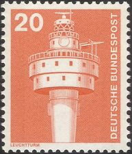 Germany 1975 Industry/Technology/Lighthouse/Nautical/Buildings 1v (n29148b)