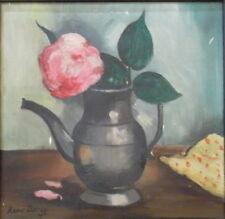 René DUREY (1890-1959) Huile sur toile Nature Morte à la Fleur