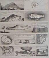 1840 Datato Stampa Gargano Dyke Denbury Giù Tin-Wald Ise Di Uomo Loggan Brayyon