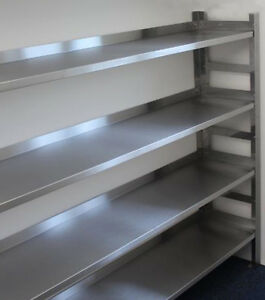 Stainless Steel Shelf Racking. Choose Width x 650d x 1800mm high. 3 tiers.