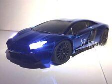 Lamborghini Aventador rápido a la deriva de Radio Control Remoto Azul LED R/C 1:16 coche