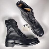 Cove Shoe Company Mens Sz 10.5 D Vintage US Military Pilot Flight Jump Boots NEW